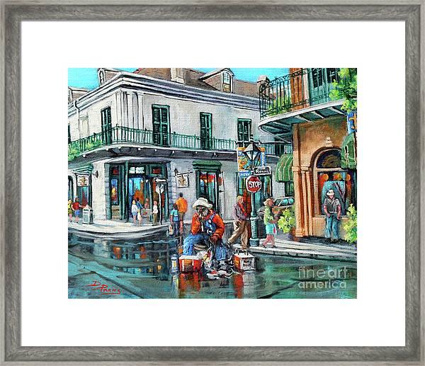 Grandpas Corner Framed Print