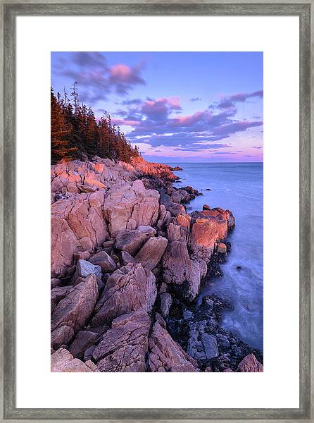 Granite Coastline Framed Print