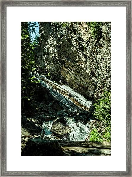 Granite Falls Of Ancient Cedars Framed Print