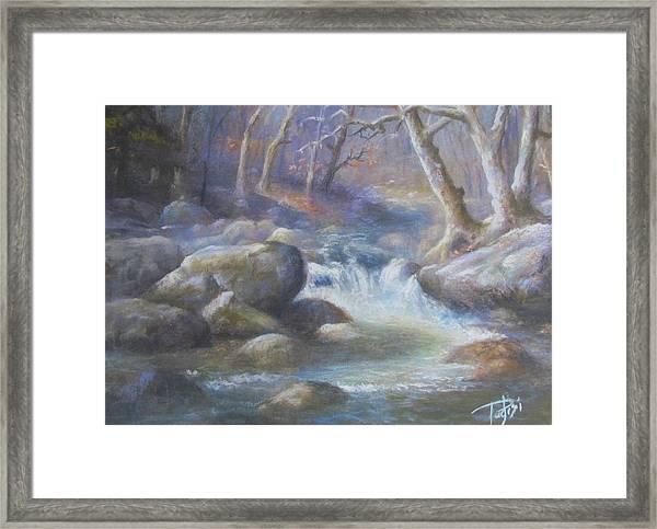 Granite Run Framed Print