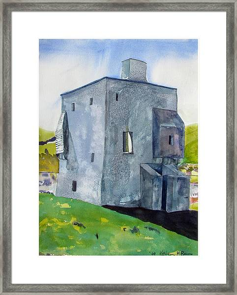 Granuaile's Castle Behind The Hill Framed Print