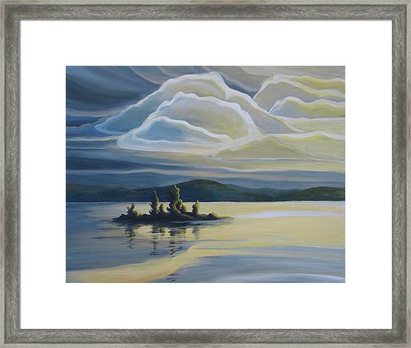Grape Island Framed Print