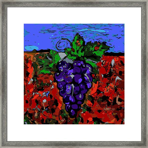 Grape Jazz Digital Framed Print