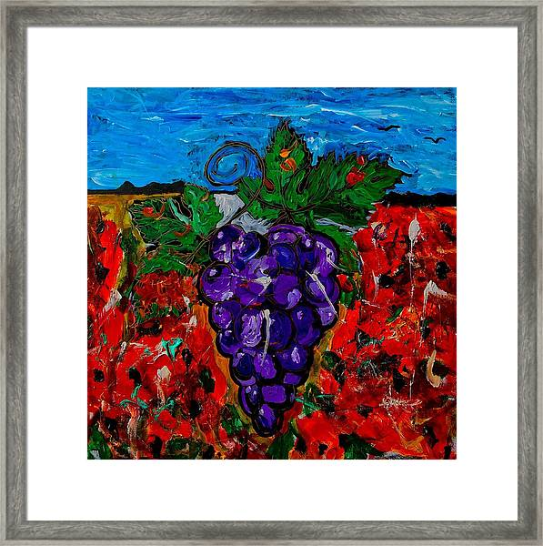 Grape Jazz Framed Print
