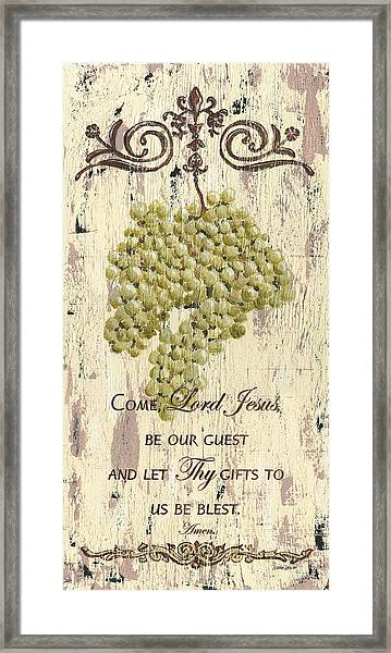 Grapes And Grace 1 Framed Print