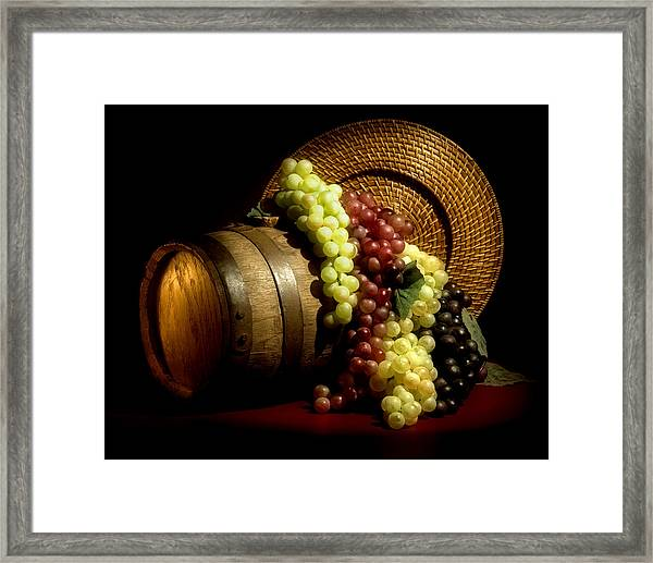 Grapes Of Wine Framed Print