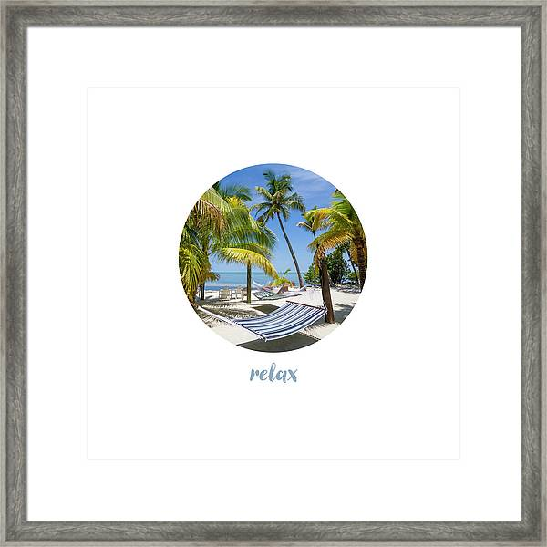 Graphic Art Relax Key West IIi Framed Print