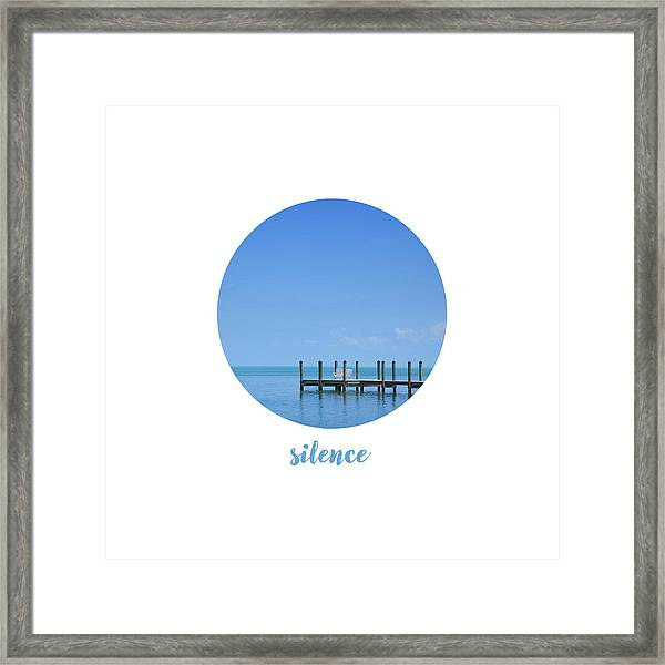 Graphic Art Silence - Oceanview Framed Print