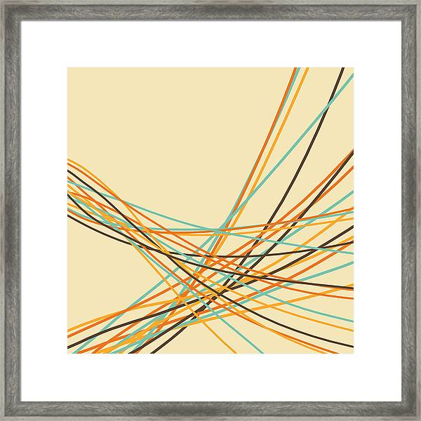 Graphic Line Pattern Framed Print