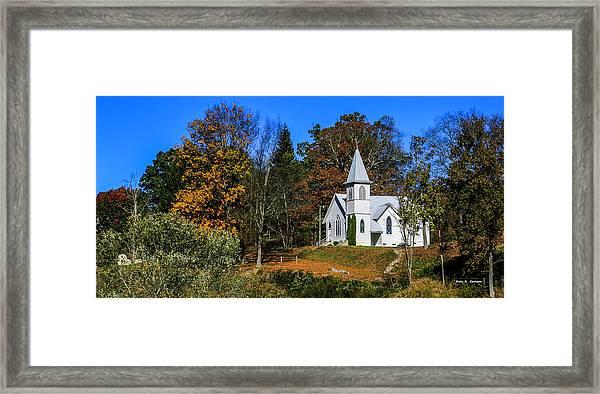 Grassy Creek Methodist Church Framed Print
