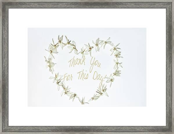 Gratitude Framed Print