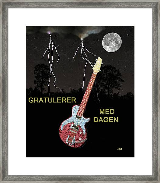 Framed Print featuring the painting Gratulerer Med Dagen by Eric Kempson
