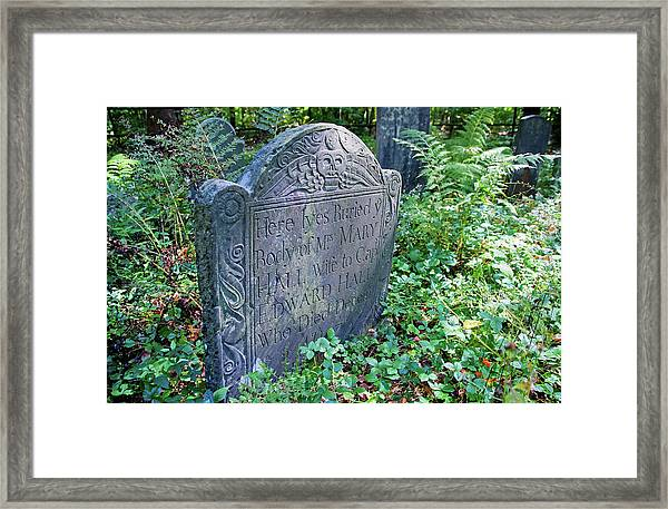 Grave Of Mary Hall Framed Print