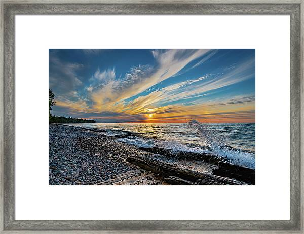 Graveyard Coast Sunset Framed Print