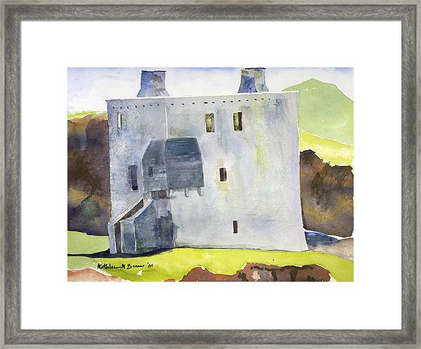 Gray Castle Framed Print