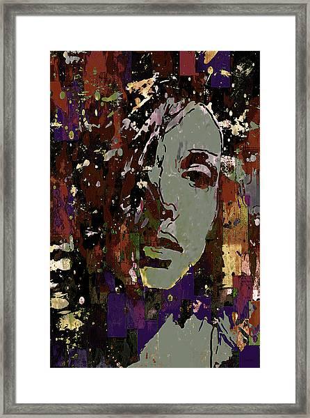 Gray Portrait Framed Print