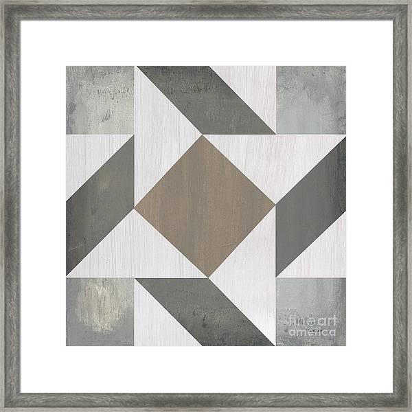 Gray Quilt Framed Print