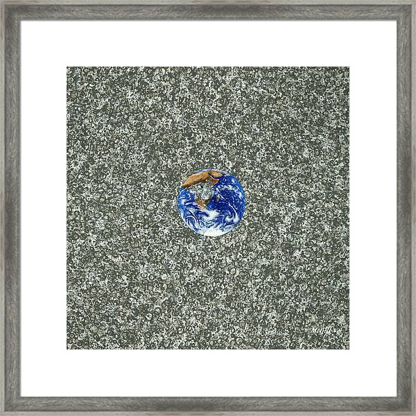 Gray Space Framed Print