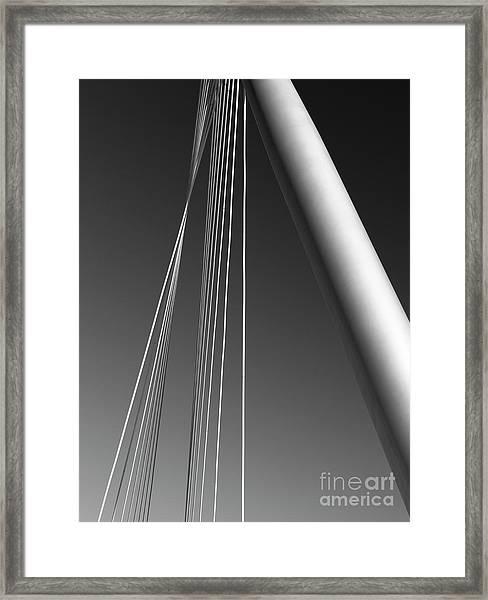 Gray Framed Print by Tapio Koivula
