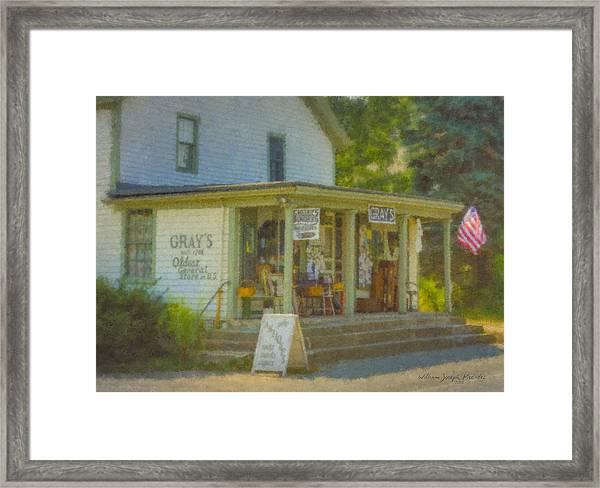 Gray's Store In Little Compton Rhode Island Framed Print