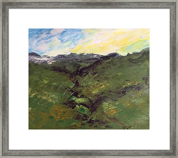Grazing Hills Framed Print