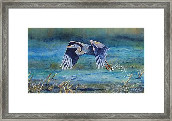Great Blue Yonder Framed Print