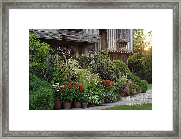 Great Dixter House And Gardens At Sunset 2 Framed Print