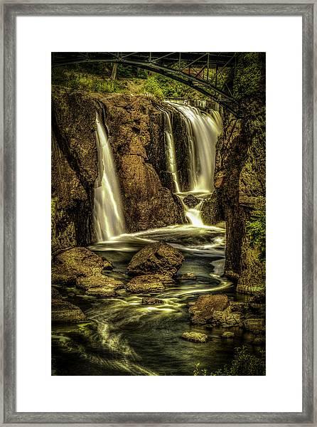 Great Falls Close Up Framed Print