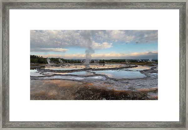 Great Fountain Geyser Framed Print