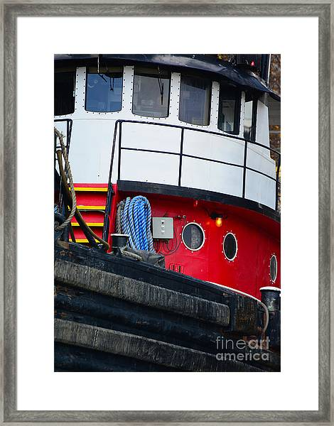 Great Lakes Tugboat Framed Print