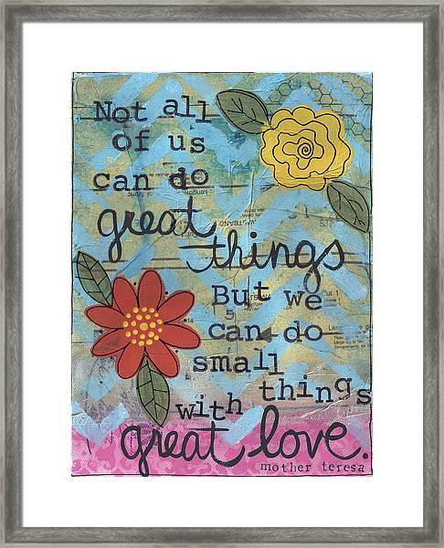 Great Love Framed Print