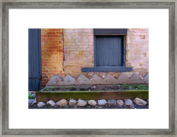 Great Place For Flowers Below A Purple Window In Frederick Maryl Framed Print
