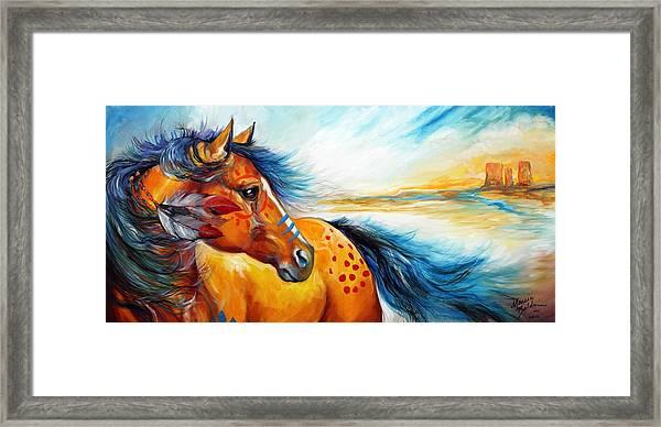 Great Plains Warrior An Indian War Pony Framed Print
