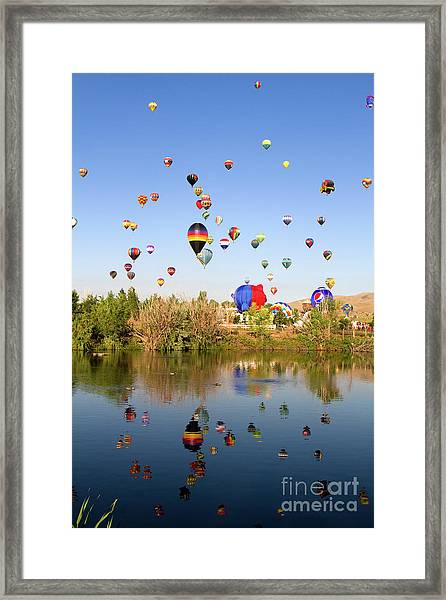 Great Reno Balloon Races Framed Print