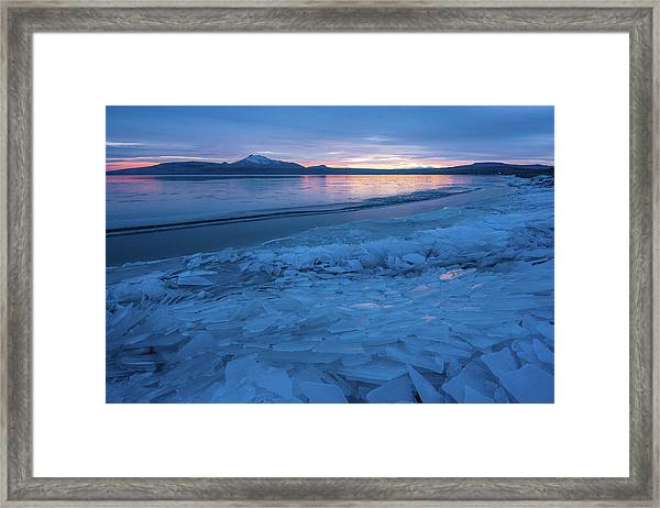 Great Salt Lake Ice Sheets Framed Print