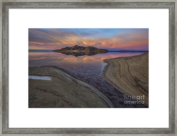Great Salt Lake Sunset Framed Print