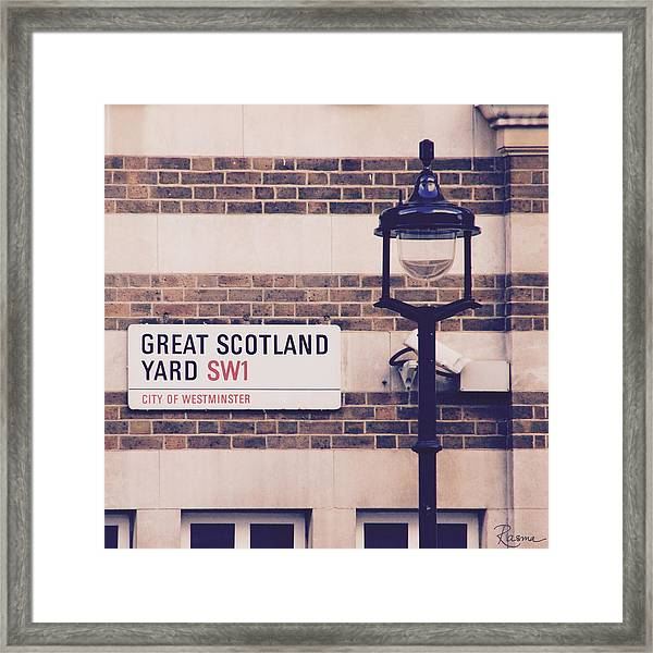 Great Scotland Yard Framed Print