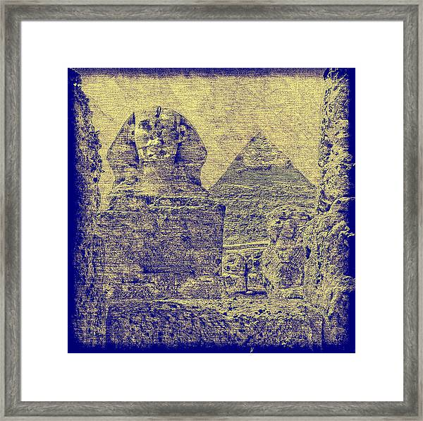 Great Sphinx And Pyramid Of Khafre Framed Print