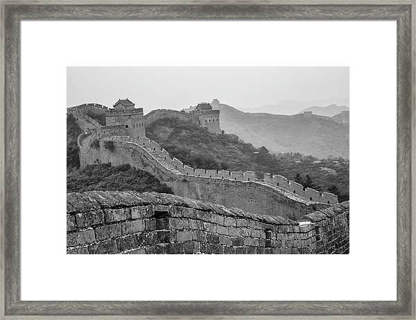 Great Wall 7, Jinshanling, 2016 Framed Print