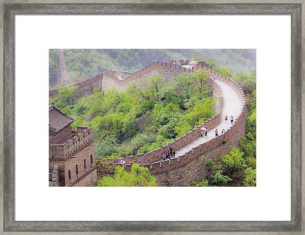 Great Wall At Badaling Framed Print