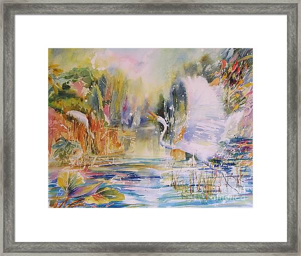 Great White Rising Framed Print
