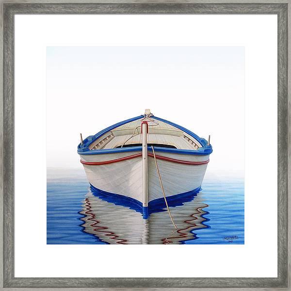 Greek Boat Framed Print