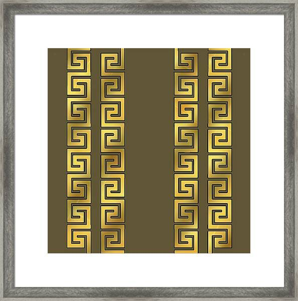 Greek Gold Pattern - Chuck Staley Framed Print
