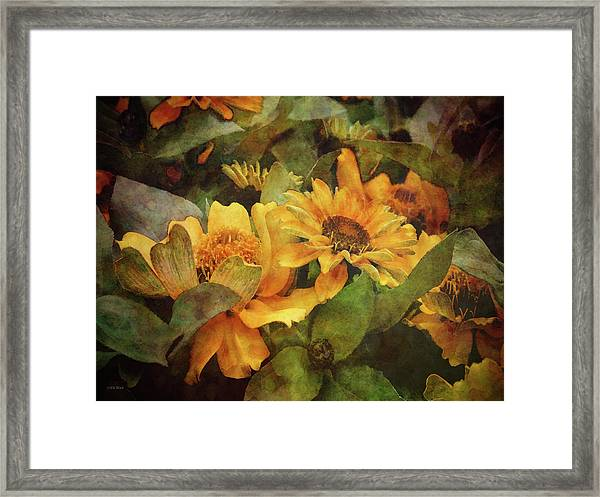 Green And Gold 1068 Idp_2 Framed Print