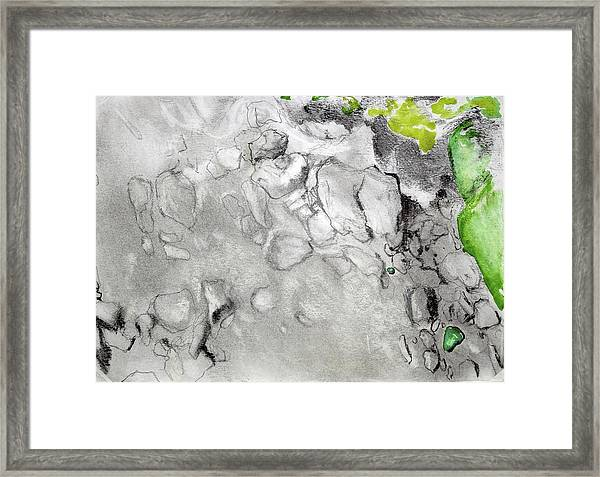 Green And Gray Stones Framed Print