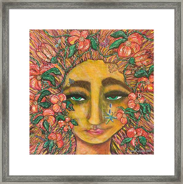 Green And Otherwise Framed Print by Cynda LuClaire