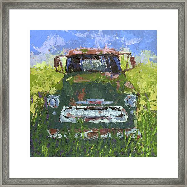 Green And Out Framed Print
