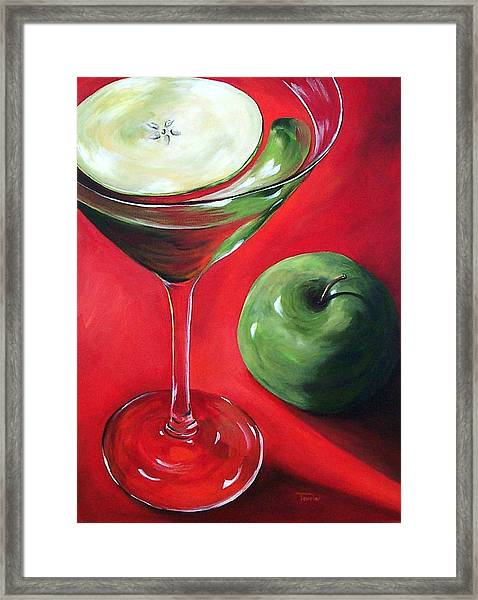 Green Apple Martini Framed Print