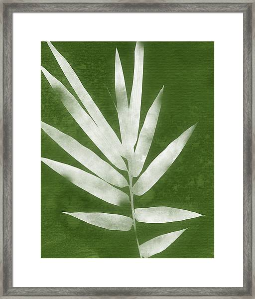 Green Bamboo 2- Art By Linda Woods Framed Print