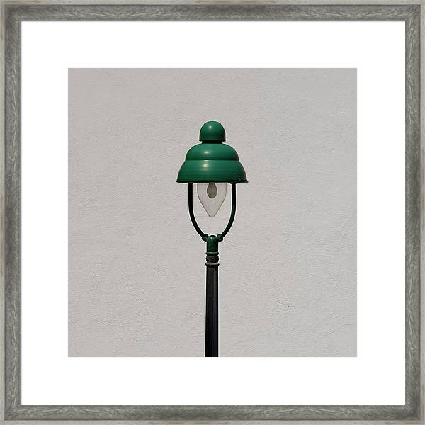 Green Bavarian Lamp Framed Print